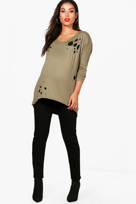 Womens Black Maternity  Button Front Jegging