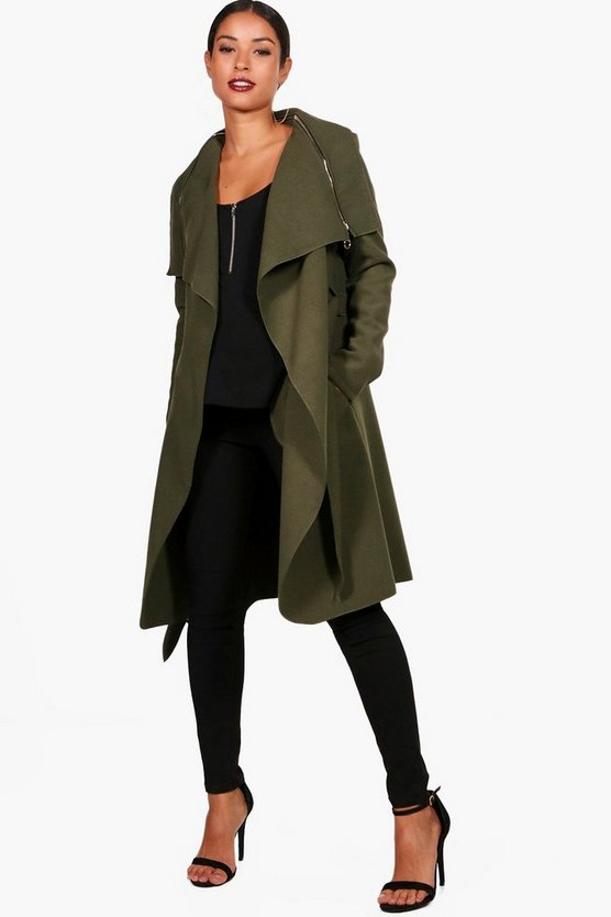 Maternity Beth Waterfall Look Coat