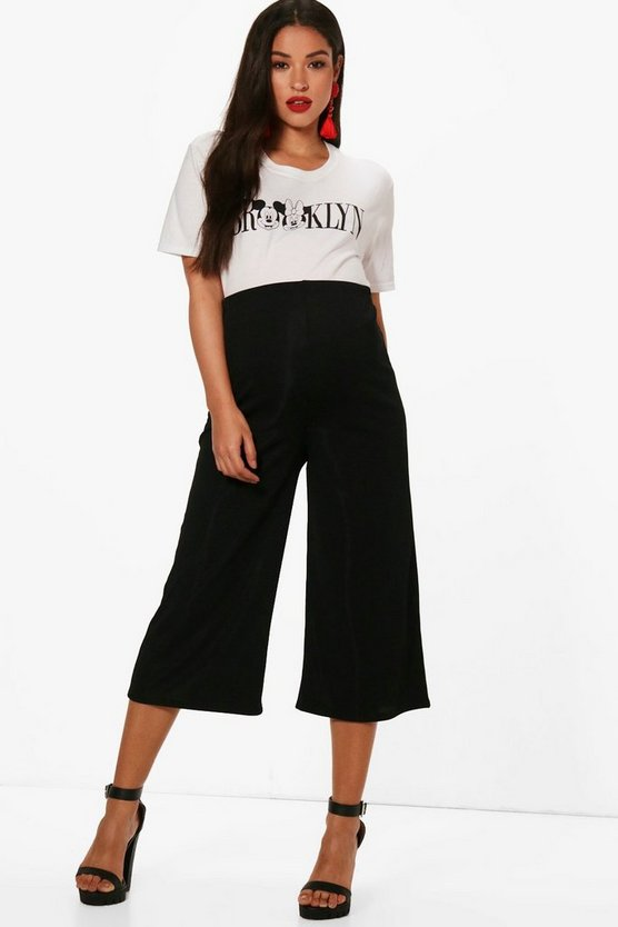 Maternity Alice Ribbed Crop Trousers