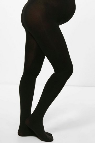 Black Maternity Emilia 200 Denier Tights
