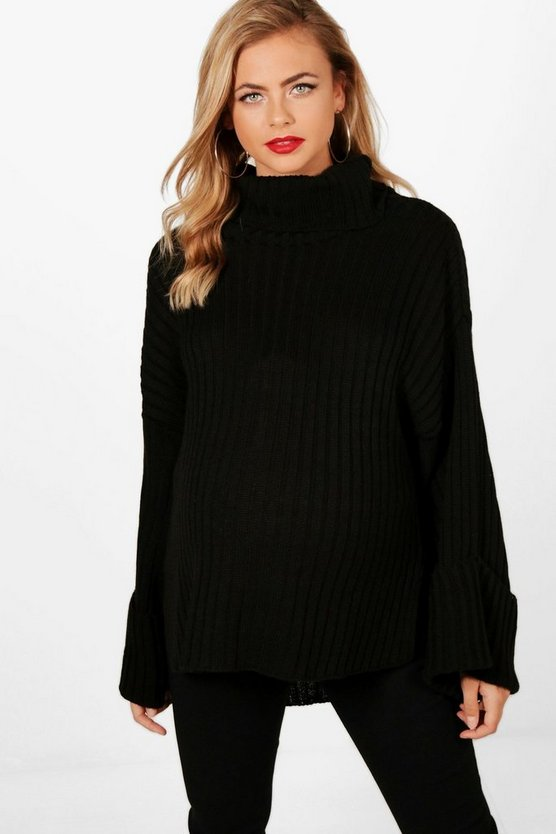 Maternity Oversized Ribbed Boyfriend Jumper