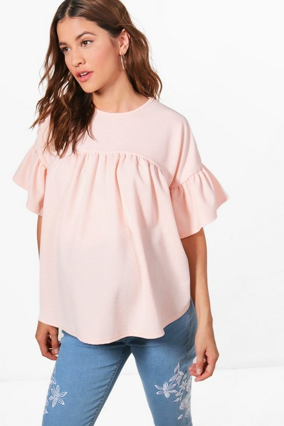 Maternity Willow Ruffle Detail Top