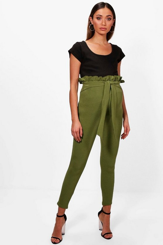 Maternity Paper Bag Skinny Trouser
