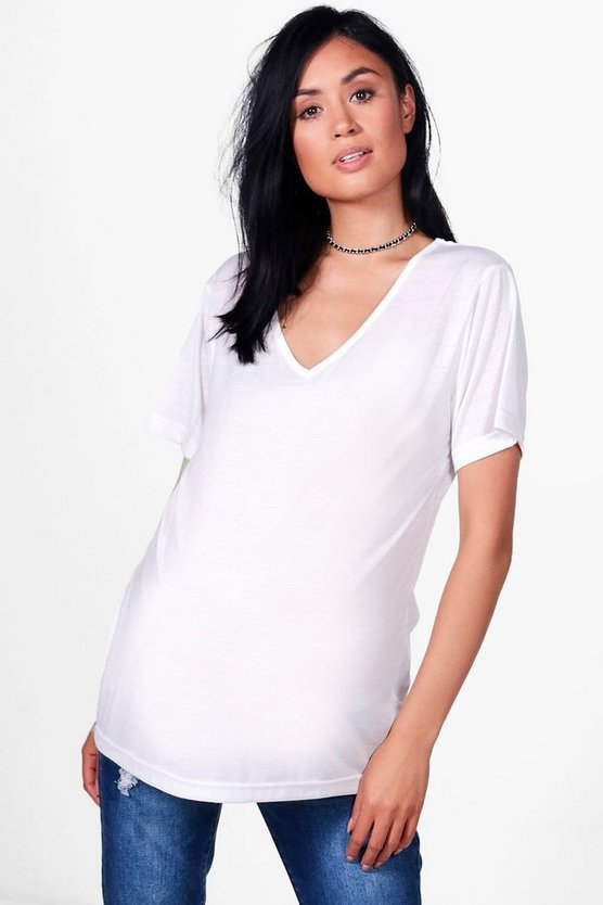 Maternity Supersoft V Neck Tee