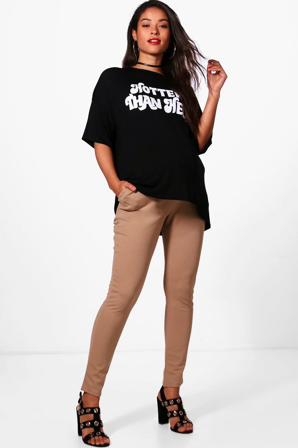 7a0ff34e8fa81 Maternity Mae Scuba Super Stretch Skinny Trouser | Boohoo