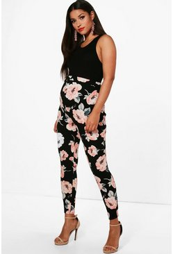 Womens Multi Maternity Jules Large Floral Skinny Trouser