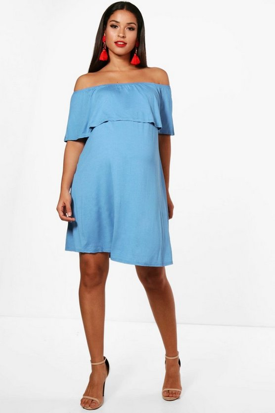 Maternity Sarah Pixie Off The Shoulder Dress