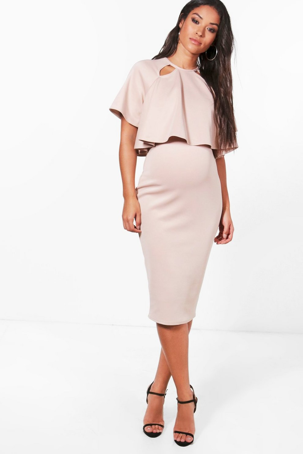 c8867a2500331 Maternity Double Layer Wiggle Dress | Boohoo