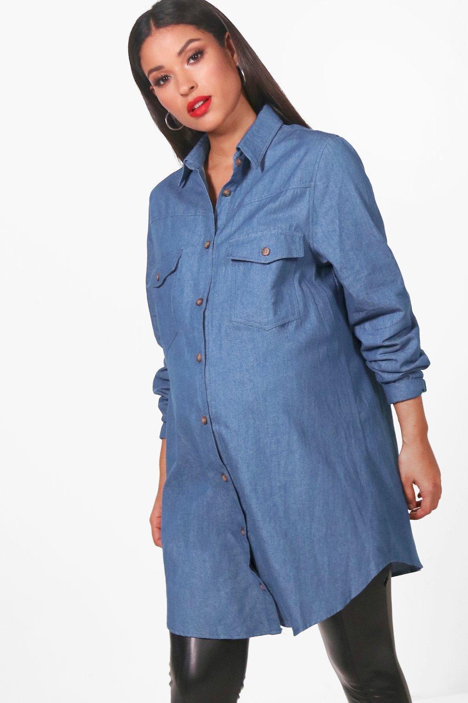 524133a27f901 Womens Blue Maternity Hollie Harmony Denim Shirt