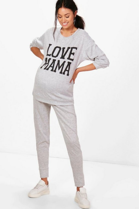 Maternity Mia Love Mama Top + Lounge Jogger Set