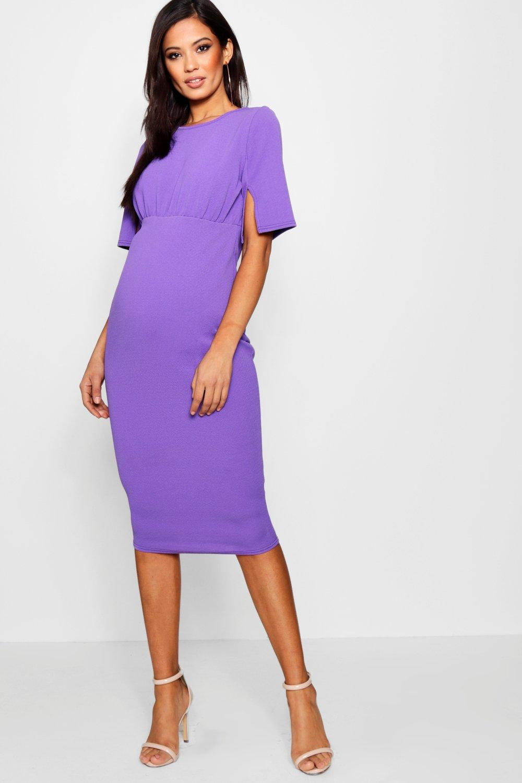 Maternity Split Sleeve Wiggle Midi Dress | Boohoo