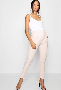 Womens Blush Maternity Pleat Front Trouser