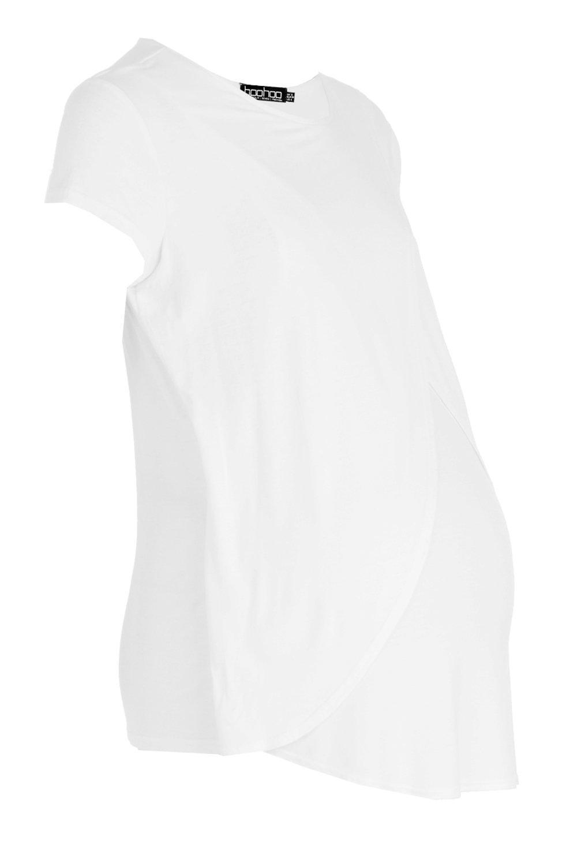 Cap Nursing Sleeve white Maternity Tee 14Pqxnn