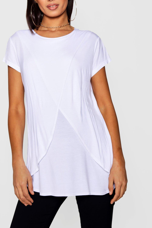 Tee Sleeve Cap white Nursing Maternity tEwTvqEBO