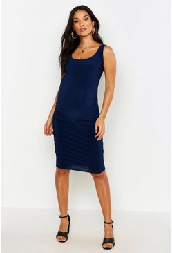 Navy Maternity Bodycon Dress