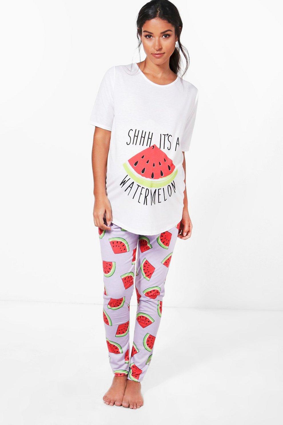 2a631343dfa4f Maternity Sadie It's A Watermelon PJ Set   Boohoo