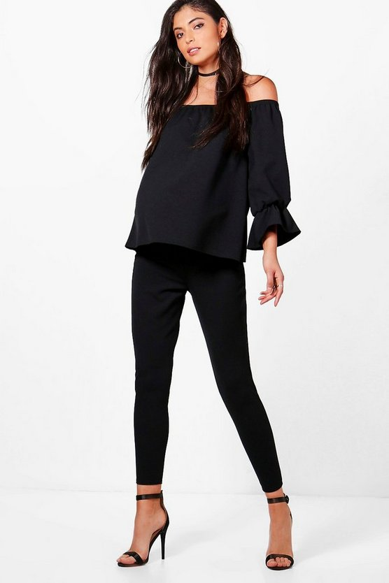 Maternity Emilie Bardot Top + Over the Bump Trouser Co-ord