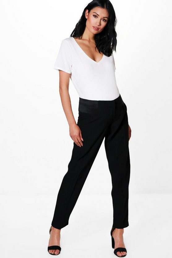Womens Black Maternity Woven Over The Bump Tailored Trouser