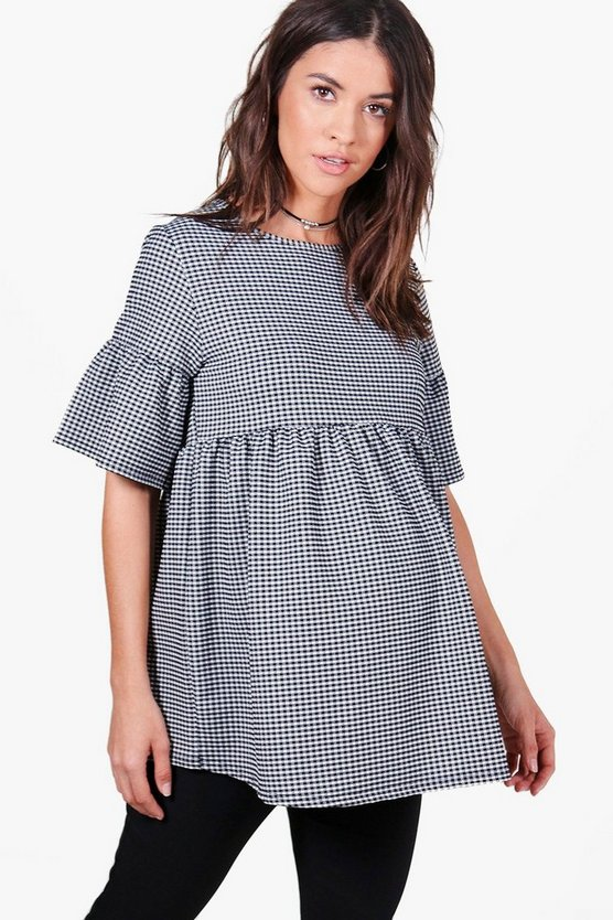 Maternity Hailey Gingham Smock Top