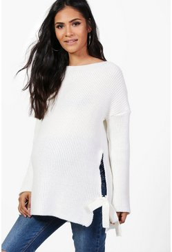 Dam Ivory Maternity  Tie Side Jumper