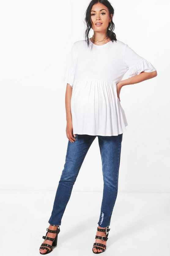 Maternity Eva Under The Bump Ankle Grazer Jean
