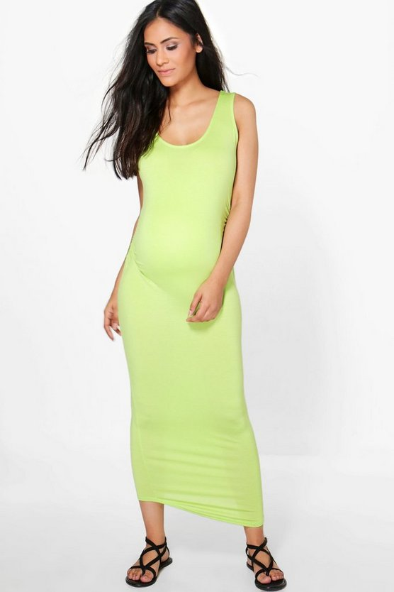 Maternity  Basic Midaxi Dress