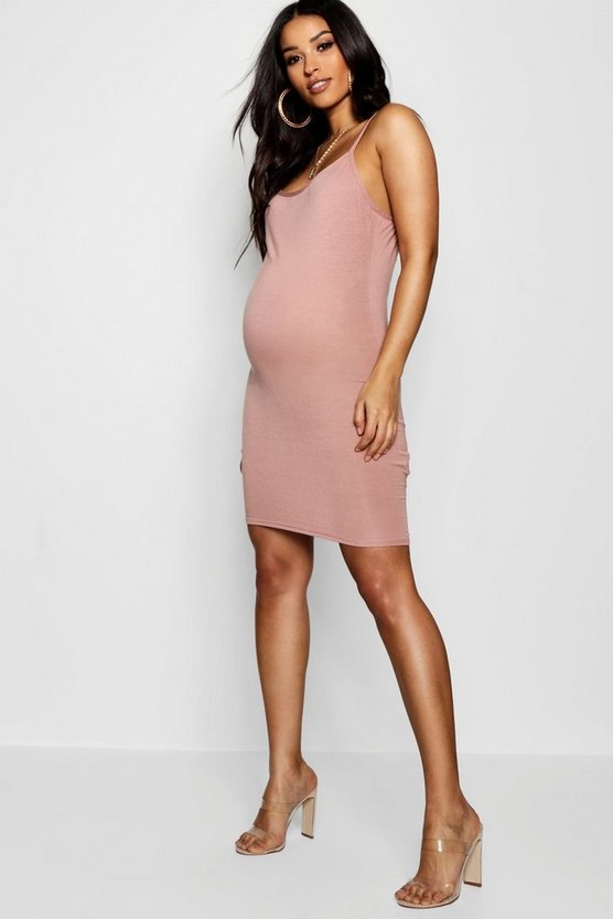 Maternity Strappy Bodycon Dress