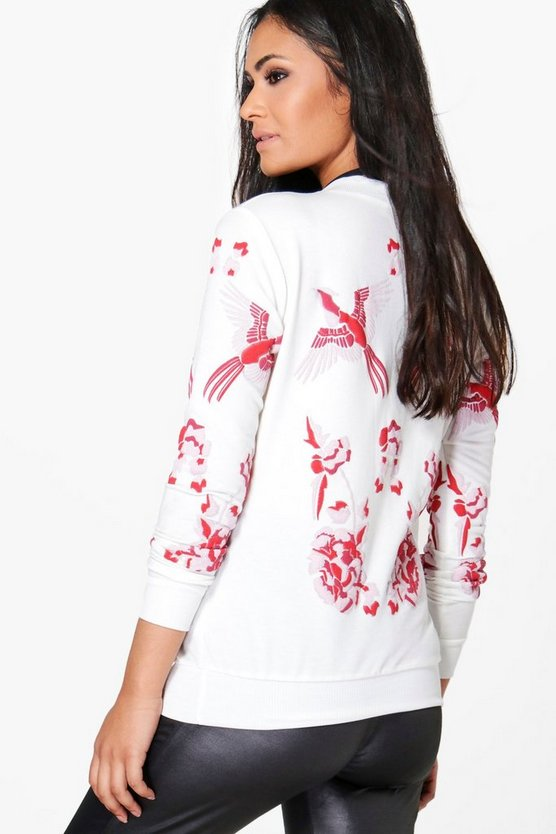 Maternity Maya Printed Embroidered Sweat