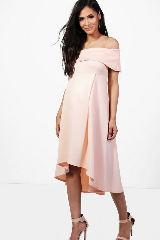 Maternity Double Layer Midi Dress
