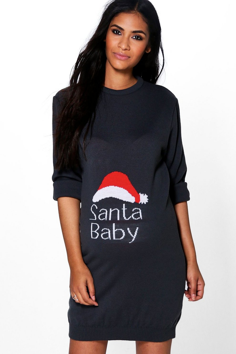 Maternity Santa Baby Christmas Dress Boohoo