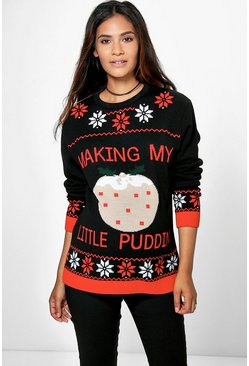 "Jersey ""Making my Little Pudding"" Premamá, Multicolor, Mujer"
