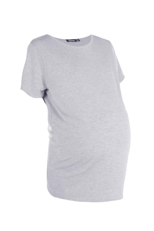 Camiseta extragrande básica básica premamá grey grey premamá extragrande Camiseta rrq7CSdw