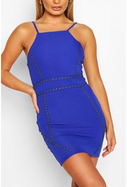 Blue Bodycon Mini Dress