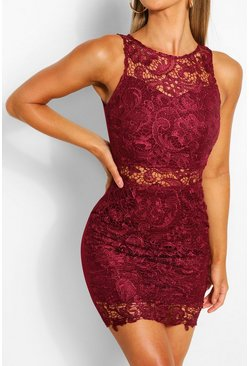 Plum Bodycon Mini Dress