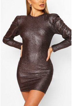Bodycon Mini Dress, Pewter