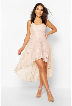 Mushroom Lace Midi Dress