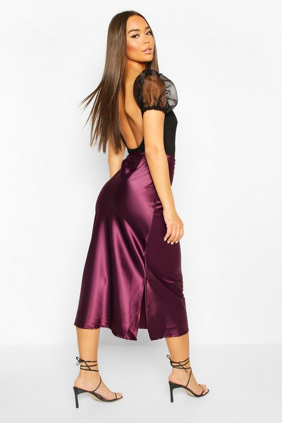 Bias Cut Midi Skirt