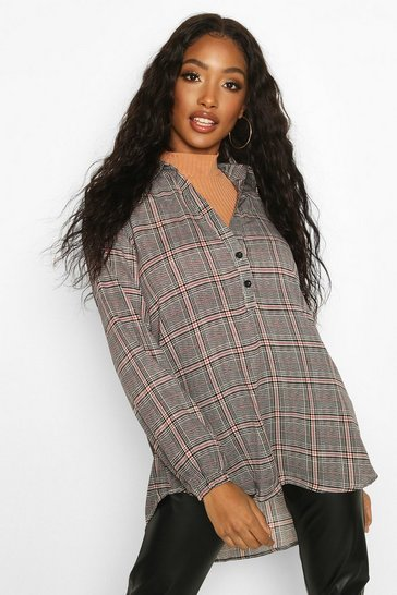 Womens Multi Checked Blouse
