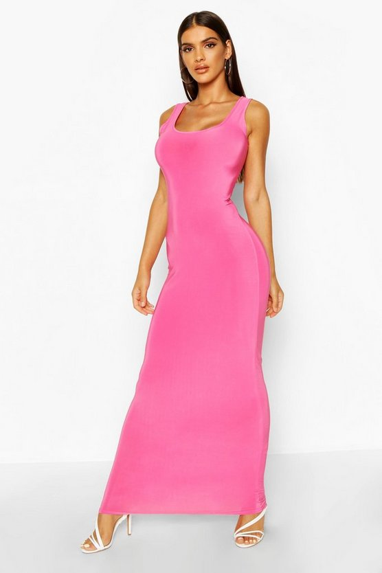 Maxikleid in Knallrosa, Rosa, DAMEN