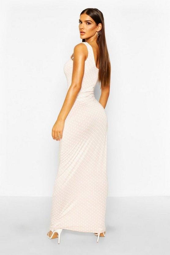 Blush Polka Dot Maxi Dress