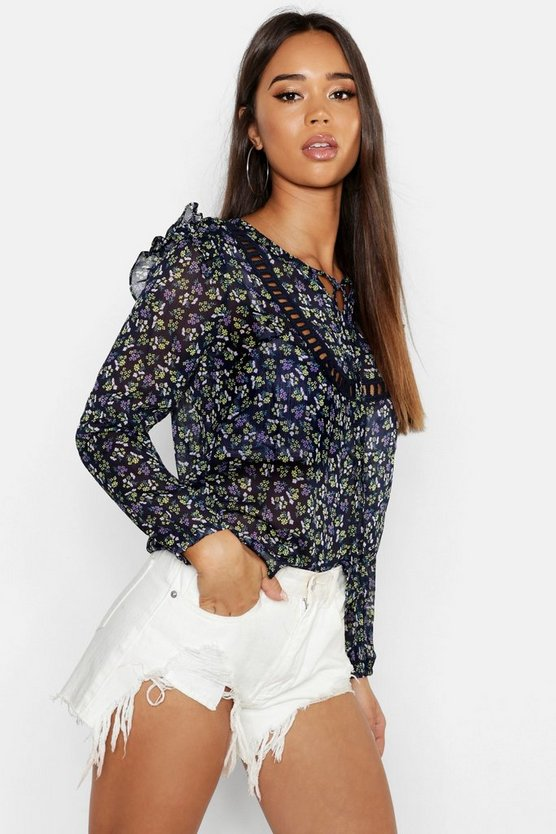 Floral Ruffle Blouse