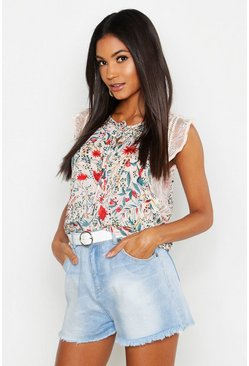 Womens Floral Shell Top