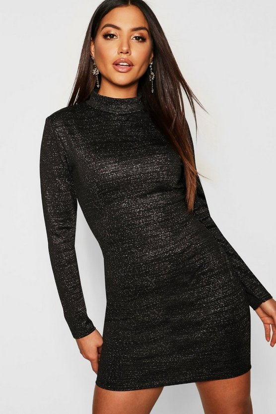 Bodycon-Kleid in Metallic-Optik