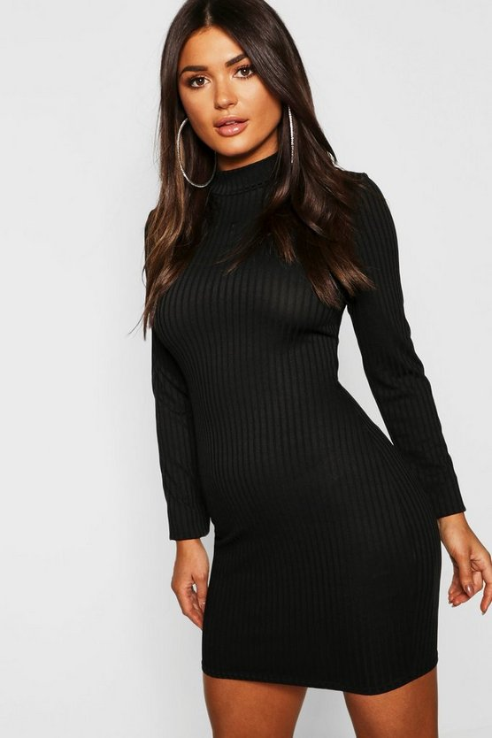 Rib Bodycon Mini Dress