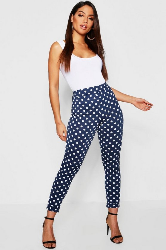 Polka Dot Skinny Trousers
