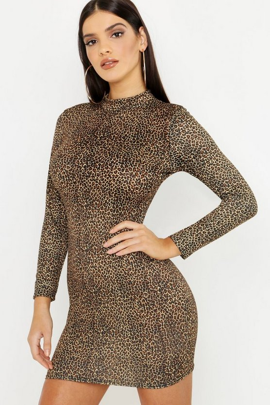 Leopard Print Bodycon Mini Dress