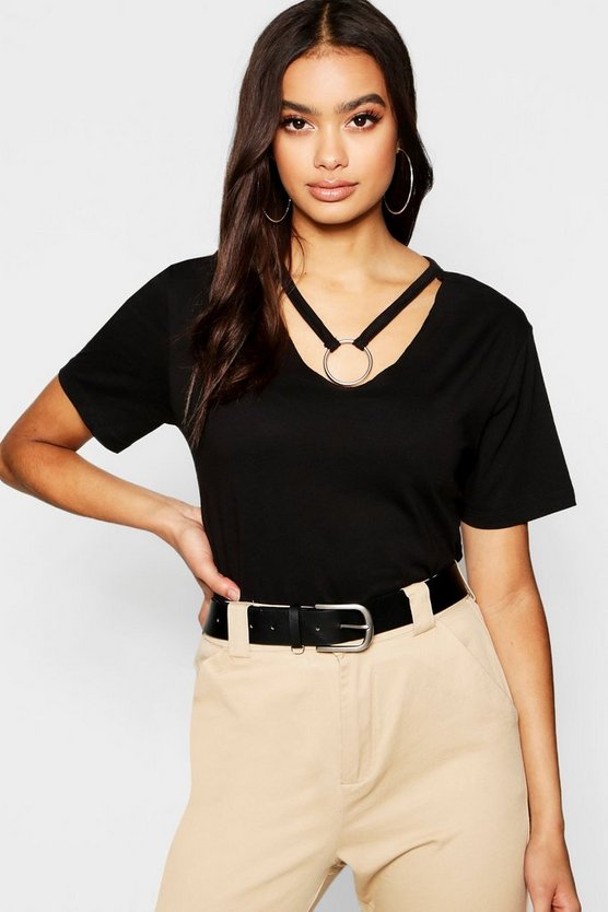 O-Ring Choker T-Shirt
