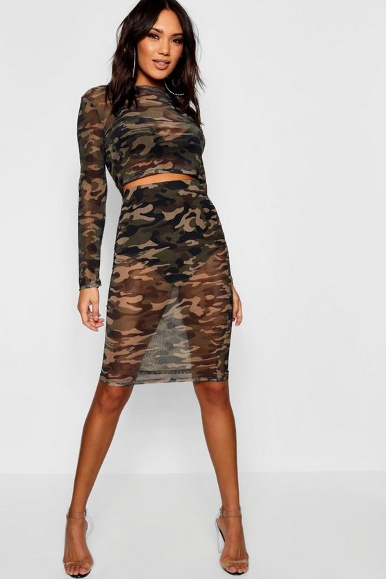 Camo Mesh Co-Ord Set