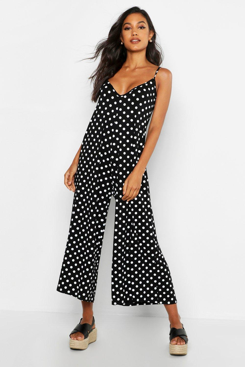 b8e220a5037 Polka Dot Swing Jumpsuit. Hover to zoom