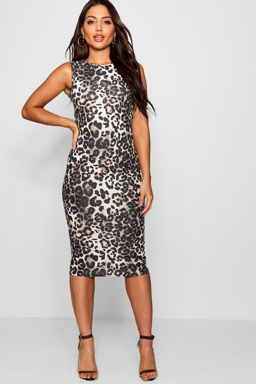 f358655707 Womens Leopard Print Midi Dress. Hover to zoom